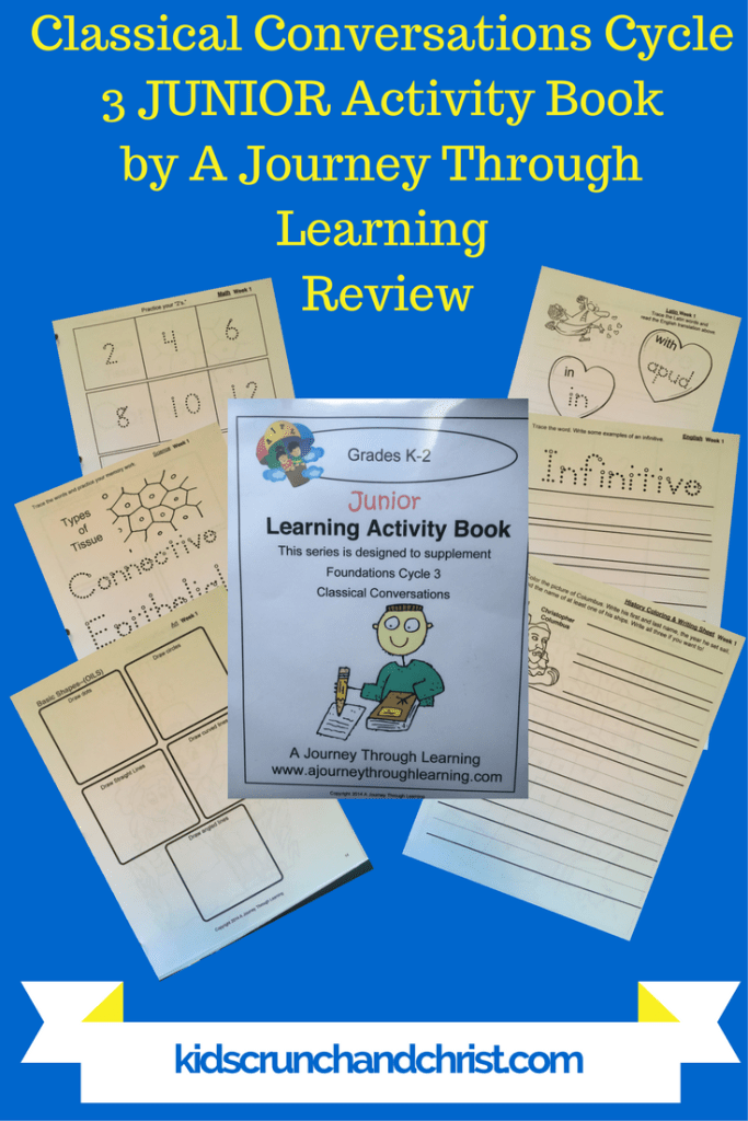 Classical Conversations Cycle 3 JUNIOR Activity Book from A Journey Through Learning