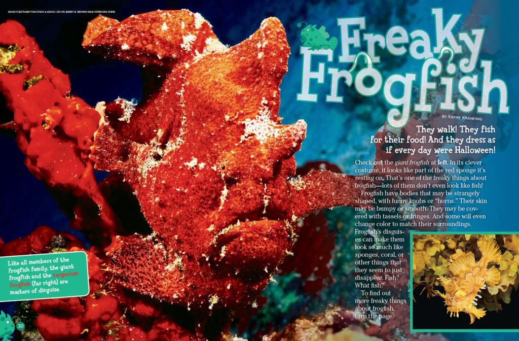 Ranger Rick Frogfish October 2016 1