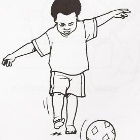 Προσπαθεί να κλωτσήσει μπάλα