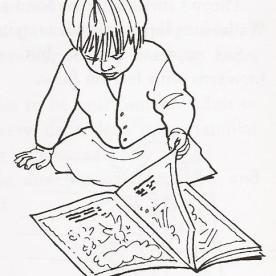 Ξεφυλλίζει βιβλία