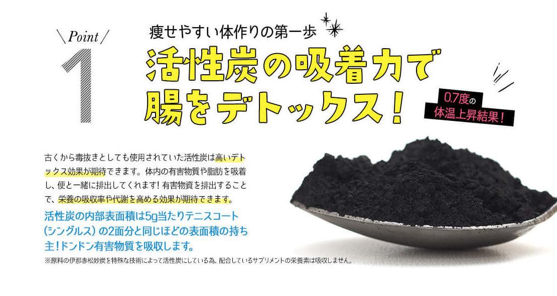 くろしろの活性炭ダイエット