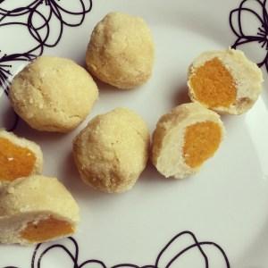 apricot, coconut, truffles