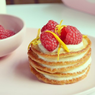 easy pancakes with orange & honey ricotta