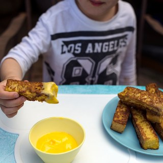 french toast sticks & lemon butter