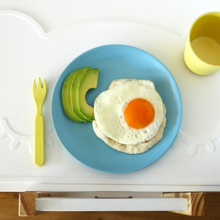 Easy Yoghurt Flatbread with Egg + Avocado