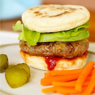 flatbread burgers with hidden veggies
