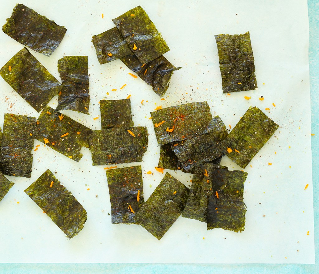 Nori Chips with orange zest, chilli and cracked pepper | Kids Eat by Shanai