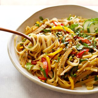 Leftover Chicken Teriyaki Stir Fry Noodles