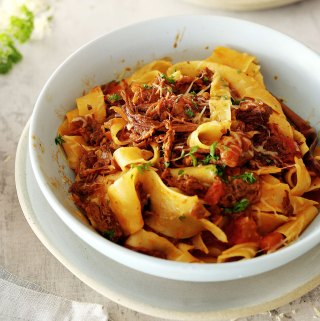 Pappardelle with Leftover Beef Ragu