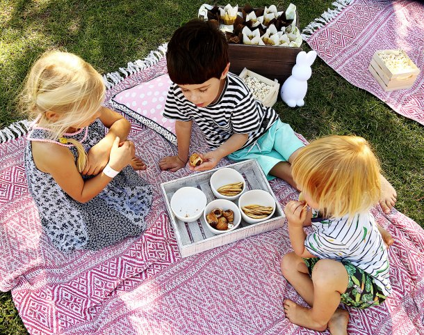 a picnic birthday party styled by kmart kids eat by shanai