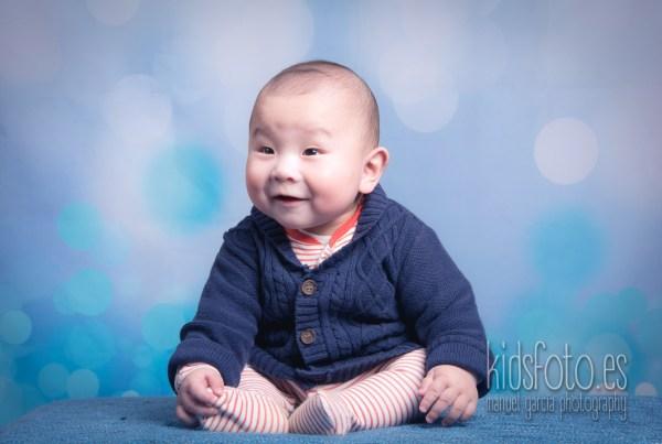 Sesión fotográfica bebé 6 meses, fotógrafo bebé Zaragoza