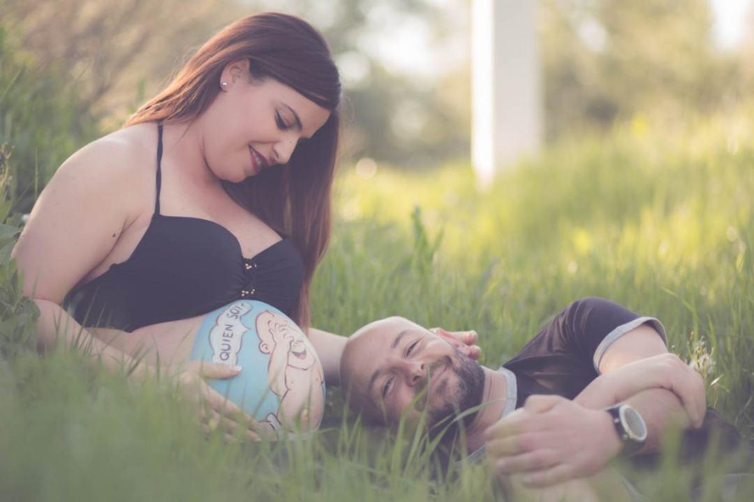 kidsfoto.es Sesión fotografía belly paint/ body paint premamá embarazo en Zaragoza