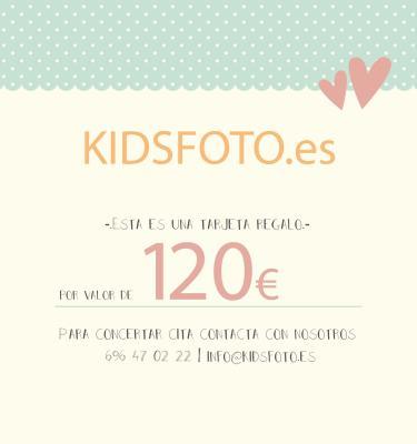 kidsfoto.es Tarjeta regalo valor 120€