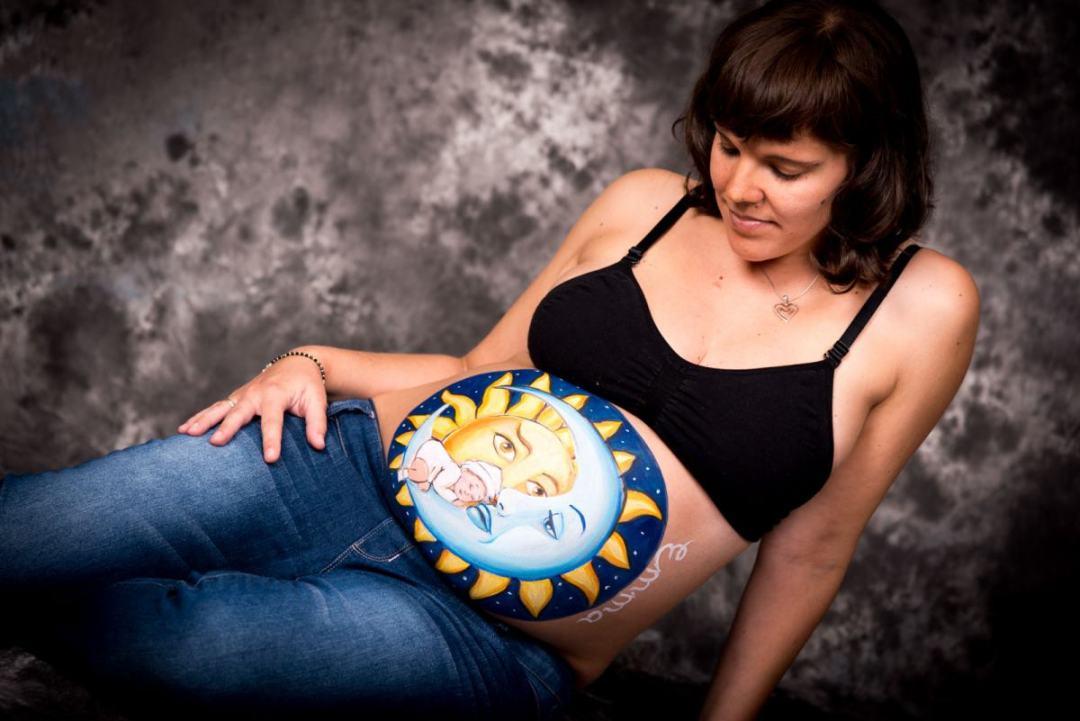 kidsfoto.es Sesión Belly Paintig + sesión fotográfica premamá en Zaragoza