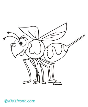 print hornet coloring pages