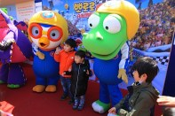 Pororo at Yeouido Spring Flower Festival