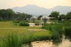Semiwon water fountain sunset Korea