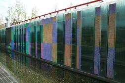 Media Wall Fountain Mondrian Garden West Seoul Lake Park 서서울 호수공원