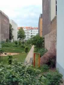 Blick Richtung Friedelstraße