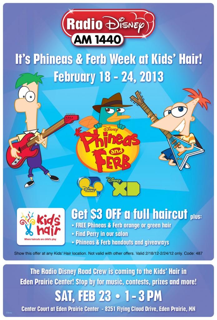 Phineas Amp Ferb Week At Kids Hair Kids Hair Inc