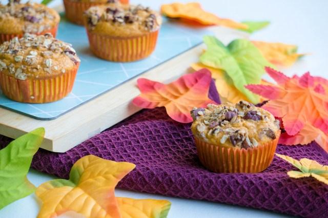 Pompoen Muffin met Havertopping | Babies Kitchen
