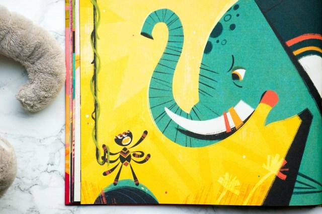 illustratie Anansi de Spin Sterker dan Olifant [kidshoekje.nl]