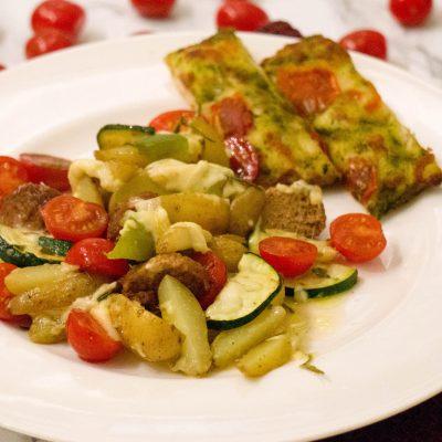 Recept Italiaanse kaas met groente bakplaat - kidshoekje