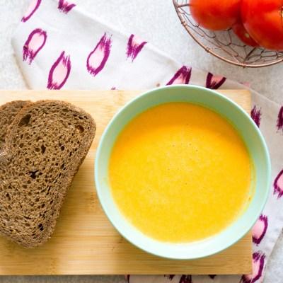 Vegetarische Pompoen Tomatensoep recept van Kidshoekje.nl