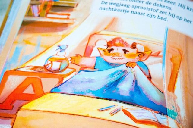 Kinderboeken Recensie 'Monster is Bang in Bed' van De Vier Windstreken.