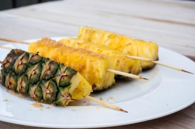 Sweet BBQ Gegrilde Ananas Spies van Recepthoekje.nl