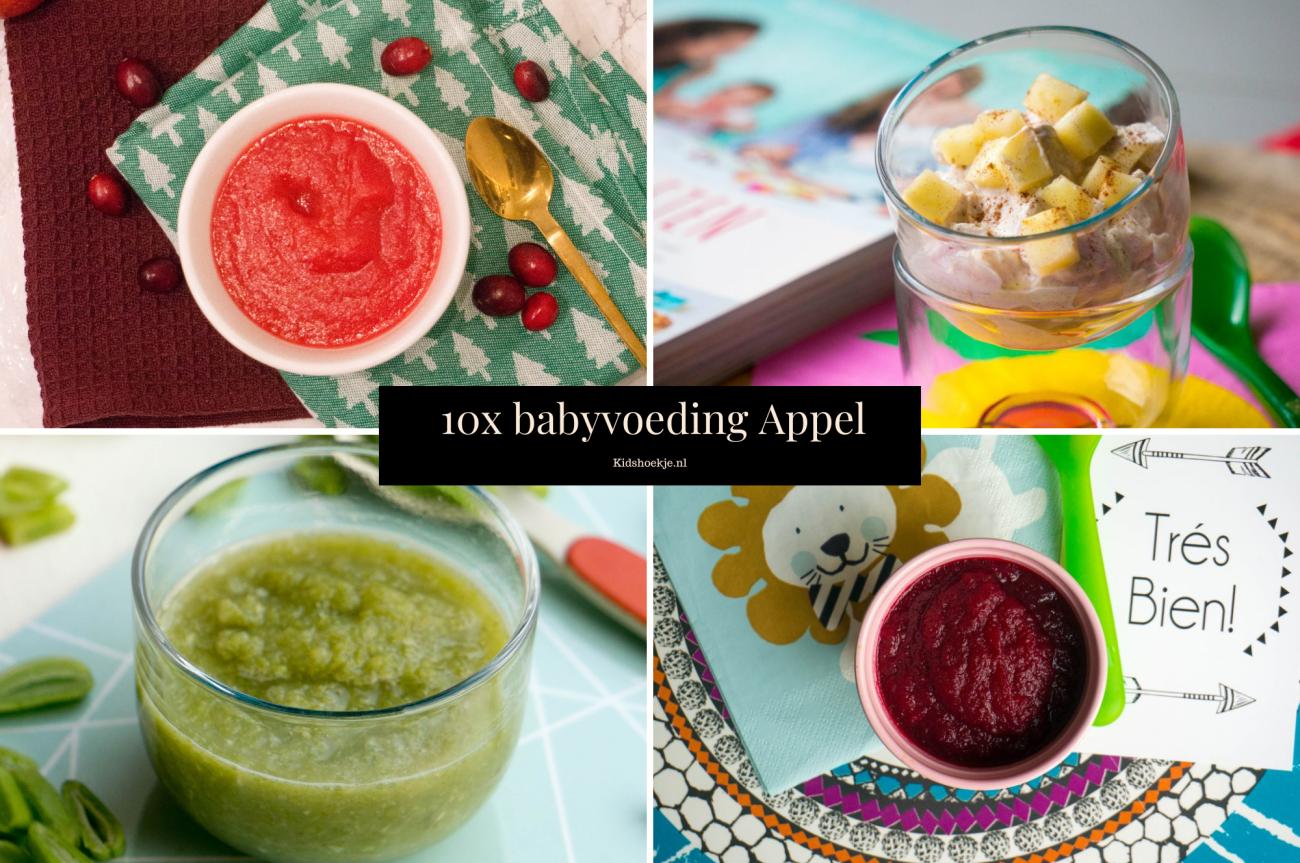 10x Babyvoeding met Appel Kidshoekje