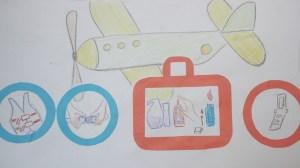 плакат правила безопасности на самолете