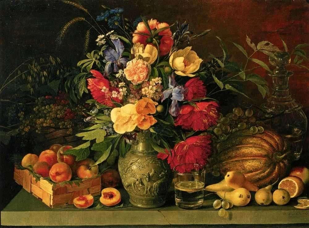 описание картины цветы и плоды