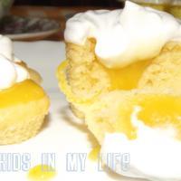Vanilla Cupcakes with Lemon Curd