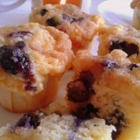 Blueberry Muffins for afternoon tea