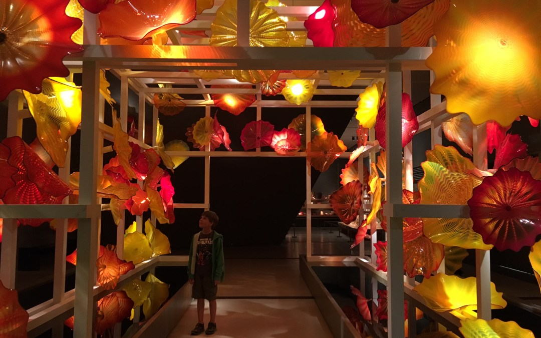 CHIHULY at the ROM with Kids in TOw