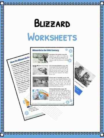 Natural Disaster Worksheets, Facts & Historical Information
