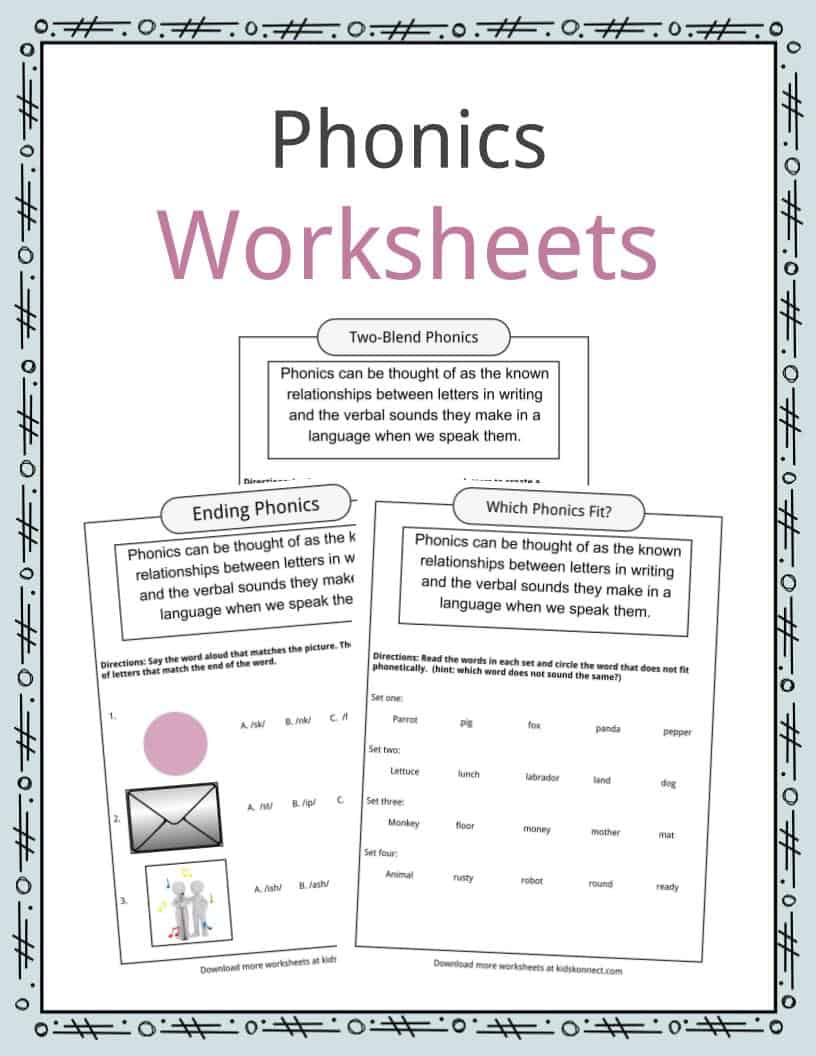 Phonics Table Worksheets Amp Examples Amp Definition For Kids