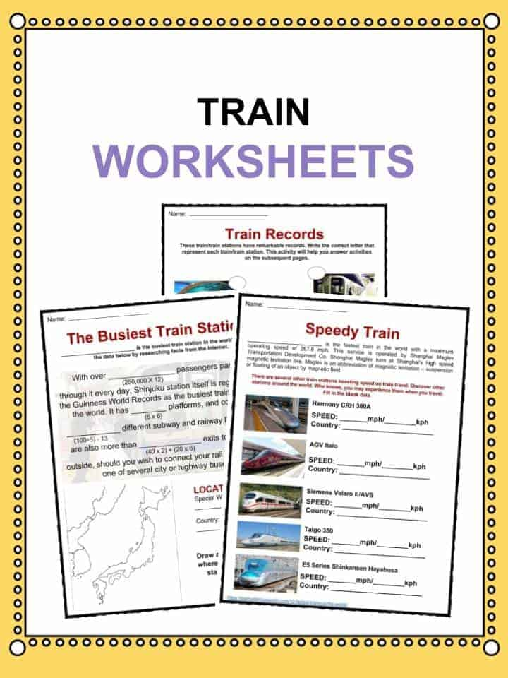 Train Facts Worksheets Amp History Of Train Transportation