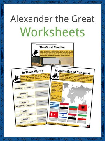 Alexander the Great Worksheets
