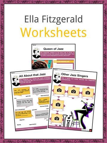 Ella Fitzgerald Worksheets