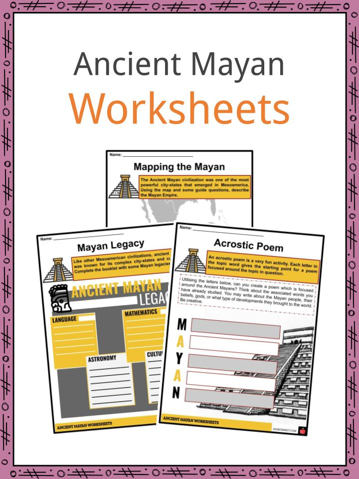 Ancient Mayan Facts, Worksheets, Origins & History For Kids