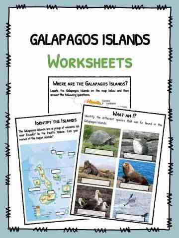Galapagos Islands Facts & Worksheets