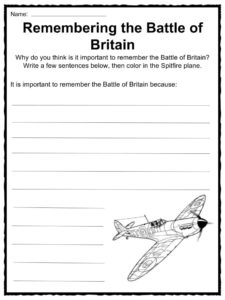 Battle Of Britain Facts Worksheets Amp Historical