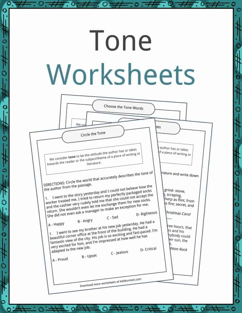 Tone Examples Definition And Worksheets