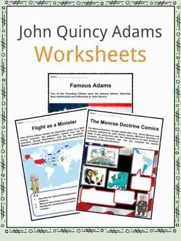 John Quincy Adams Worksheets