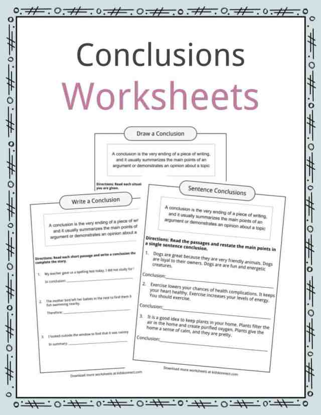 Conclusion Worksheets, Examples, Definition & Meaning For Kids