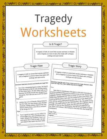 Tragedy Worksheets