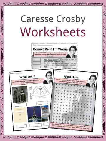 Caresse Crosby Worksheets