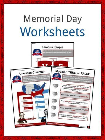 Memorial Day Worksheets